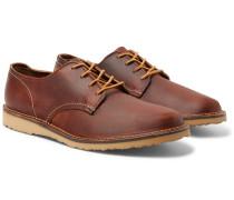Weekender Leather Derby Shoes - Brown