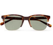 Square-frame Tortoiseshell Acetate And Gold-tone Sunglasses - Tortoiseshell
