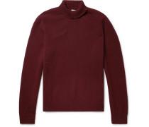 Wool Rollneck Sweater - Burgundy