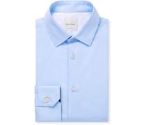 Light-blue Cotton-poplin Shirt - Blue