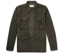 Paratrooper Slim-fit Suede Field Jacket