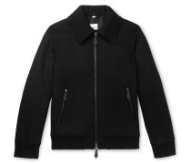 Virgin Wool and Cashmere-Blend Bomber Jacket