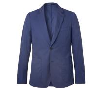 Royal-blue Soho Slim-fit Cotton Suit Jacket