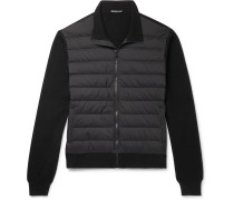 Shell-Panelled Merino Wool and Cashmere-Blend Down Jacket