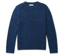Mélange Cashmere Sweater - Navy