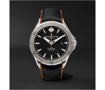Clifton Club Automatic 42mm Stainless Steel And Leather Watch - Black