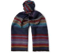 Fringed Zigzag Wool Scarf