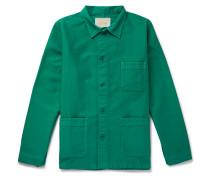 Cotton-moleskin Chore Jacket - Green