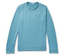 Loopback Supima Cotton-jersey Sweatshirt - Blue