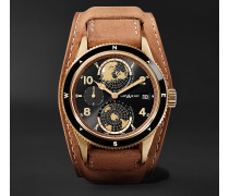1858 Geosphere Limited Edition Automatic 42mm Bronze And Leather Watch