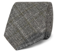 8cm Prince Of Wales Checked Wool, Silk And Cashmere-blend Tie