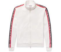 Grosgrain-trimmed Jersey Jacket