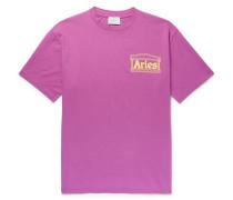 Logo-print Cotton-jersey T-shirt - Magenta