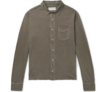 Slim-Fit Pigment-Dyed Cotton-Jersey Shirt