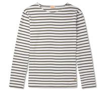 Striped Cotton-jersey T-shirt - Dark green