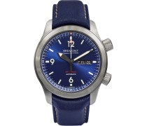 U2/bl Automatic 45mm Stainless Steel And Leather Watch - Blue