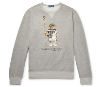 Printed Loopback Cotton-blend Jersey Sweatshirt