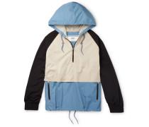 Colour-block Shell Hooded Jacket - Multi