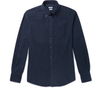 Button-down Collar Garment-dyed Cotton-corduroy Shirt