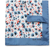 Floral-print Silk Pocket Square