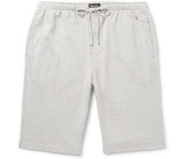 Andover Herringbone Cotton Pyjama Shorts - Gray