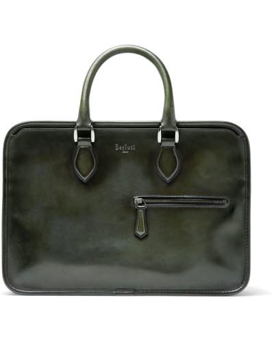Un Jour Mini Leather Briefcase - Green
