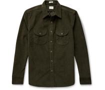 Stretch Cotton-Corduroy Overshirt