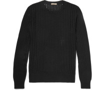 Open-knit Silk Sweater