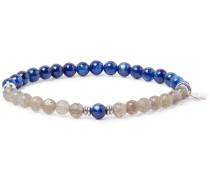 Kyanite, Labradorite And Sterling Silver Bracelet - Blue