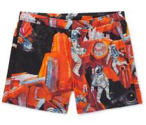 Printed Short-Length Swim Shorts