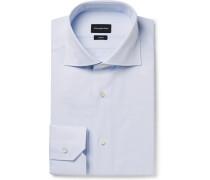 Light-blue Pin-dot Cotton-poplin Shirt