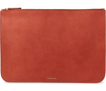 Leather Pouch - Brick