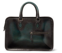 Un Jour Mini Leather Briefcase - Green