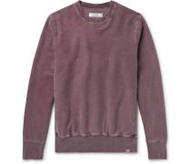 Fleece-back Cotton-jersey Sweatshirt - Burgundy