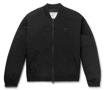 Slim-Fit Logo-Appliquéd Shell Bomber Jacket