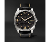 Radiomir 1940 3 Days Gmt Automatic Acciaio 45mm Stainless Steel And Leather Watch