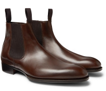 + George Cleverley Suede Chelsea Boots