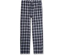 Lowell Checked Cotton-poplin Pyjama Trousers