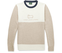 + Woolrich Logo-Embroidered Colour-Block Wool Sweater