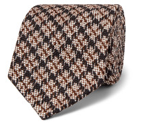 Puppytooth Cotton and Silk-Blend Jacquard Tie