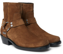 Suede Harness Boots