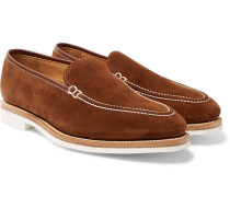 Riviera Suede Loafers - Brown