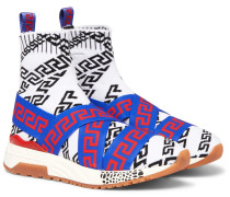 Hercules Logo-jacquard Stretch-knit High-top Sneakers - Multi
