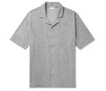 Camp-Collar Cotton-Terry Shirt