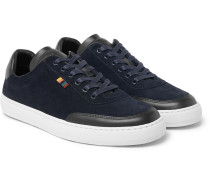Earle Suede And Leather Sneakers - Navy