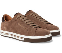 Roma Logo-embellished Suede Sneakers