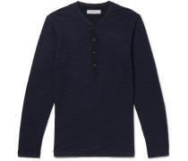Harrison Slim-Fit Garment-Dyed Slub Cotton-Jersey Henley T-Shirt