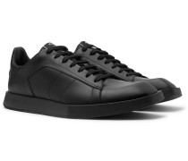 Logo-Print Leather Sneakers
