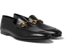 Brixton Horsebit Collapsible-heel Leather Loafers - Black
