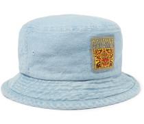 Logo-Appliquéd Denim Bucket Hat